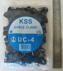 100 P Clips 15.8mm Cable Clamps Black Nylon holds up wire conduit split loom KSS