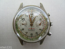 VINTAGE ACTUA GENEVE 17j MENS CHRONOGRAPH WATCH LANDERON 48 MOVEMENT
