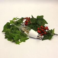LED Light Bulb C11 1.8W 120V 2700K E12 Chandelier Lamp FLAME TIP STYLE (48062)