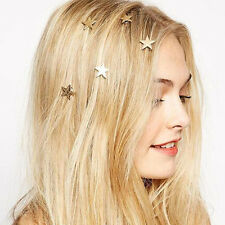 1X Fashion Young Girl Little Cute Gold Stars Spring Clip Hairpin Hair Accessory