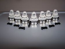 LEGO® STAR WARS minifigure CUSTOM STORM TORSO TROOPER x7 white blaster hood lot