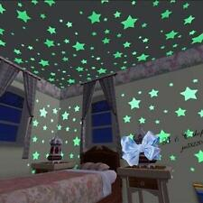 100pcs Lots Stars Moon Stickers Glow In The Dark Bedroom Home Wall Room Decor