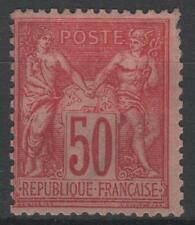 """FRANCE STAMP TIMBRE N° 98 """" TYPE SAGE 50c ROSE TYPE II """" NEUF x A VOIR   N397"""