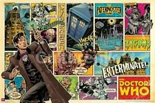 Doctor Who Matt Smith British Comic Book Panels 24 x 36 Poster, ROLLED #5608