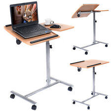 Adjustable Laptop Notebook Desk Table Stand Holder Swivel Home  Office Whee