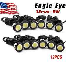 12X Motor Car 9W White Eagle Eye 18mm LED Daytime Running DRL Tail Backup Bulbs