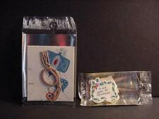 Vintage AMERICAN GREETINGS Lot of 2 Christmas Tags+Seals Packets-MIP-NOS