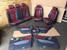 MERCEDES W210 E55 AMG OEM RED INTERIOR STEERING WHEEL PANELS HEATED SEAT SEATS