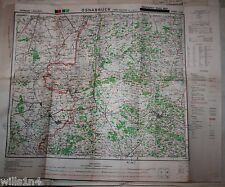 WWII US Army 29th Division Map Osnabruck Germany Emergency Road Map 1945