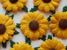 100 Lovely Handmade Mulberry Paper Sunflowers - Golden Yellow Sunflower 2.5cm/1""