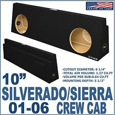 Chevy Silverado & GMC Sierra Crew Cab Sub Box Subwoofer Enclosure Ground-Shaker