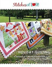 HOLIDAY QUILTING APPLIQUE PATTERN BOOK, From Stitches of Love Quilting NEW