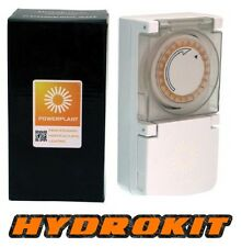 Powerplant Heavy Duty 24 Hour 15 Minute Grow Light Timer 600W Hydroponics plug