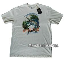 MEN'S LARGE CARIBBEAN JOE SUNDOWN HOOK-UPS BLUE MARLIN GRAPHIC FISHING T-SHIRT