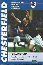 Football Programme - Chesterfield v Gillingham - Div 2 - 1997