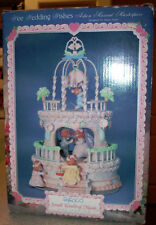 NEW RARE Enesco Wee Wedding Wishes Mice Cake Multi-Action/Lites Music Box NIB