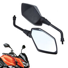 Motorcycle Rearview Bar End Side Mirror For Kawasaki Z1000 2003-2011 2x8mm BLACK