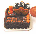 1:12 Scale Oblong Halloween Cake Dolls Miniature House Kitchen Accessory T14