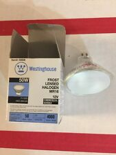 50 WATT MR16 FROSTED HALOGEN 12 VOLT OF OF ( 6 ) BULBS STANDARD 2-PIN BASE 5.3