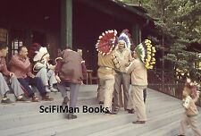 ANSCOCHROME 35mm Slide Native American Indians Headresses Lodge Porch 1960s?