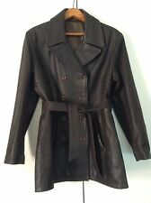 Immaculate Heavy Real Leather Resistance Style Buttoned Box Jacket W Belt