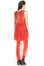 Free people red hot embellished party dress F699Y493 ret 250