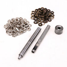 100pcs 6mm Brass Eyelets Silver Bronze Punch Tool Bags Leather Craft Jacket