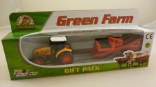 6.5cm Diecast Amarillo Tractor agricola Remolques Gift Pack Playset (HL138) YEL
