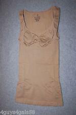 Womens Shapewear SEAMLESS CAMISOLE TANK Body Shaper BEIGE Heavy Control M 8-10