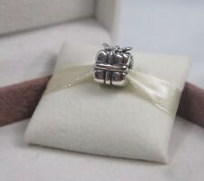 New w/Box Pandora  Sterling Silver Present Charm #790300 Christmas Birthday Gift