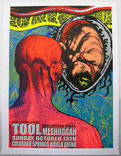 TOOL Original 2002 Concert Poster w MESHUGGAH Limited Edition signed & numbered