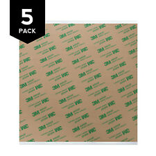 """3M 468MP Adhesive Transfer Tape Sheets 8"""" x 8"""" (5-Pack)"""