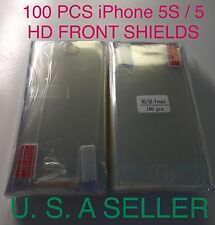 100X iPhone 5 5S 5C Clear HD Screen Protectors High Quality Lots for iPhone SE