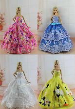 4 x Fashionistas Hochzeit Kleidung Dress Prinzessinnen Kleider Für Barbie Puppe