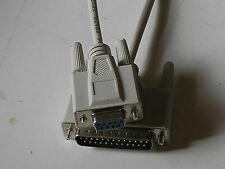 10Ft DB9-Female/DB25-Male  Null Modem Cable New  17279