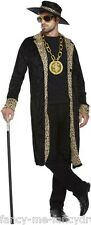 Homme imprimé léopard pimp stag do funny novelty gangster costume robe fantaisie