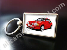 FORD ESCORT RS TURBO S2 METAL KEY RING. CHOOSE YOUR CAR COLOUR.
