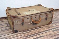 sehr alter Reisekoffer, ausziehbar, Überseekoffer, Leder, antik