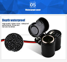 Waterproof Motorbike Motorcycle GPS sat nav USB Charger Power Adapter Socket 12V