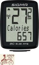 SIGMA BC 9.16 ATS WIRELESS BLACK BICYCLE SPEEDOMETER COMPUTER