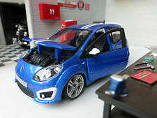 G LGB 1:24 Scale 2009 Renault Twingo RS Gordini Blue Burago Detailed Model