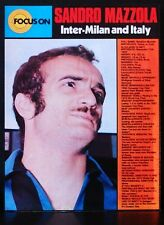 FOOTBALL PLAYER FOCUS ON SANDRO MAZZOLA INTER-MILAN AND ITALY SHOOT