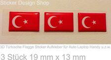 3D Türkische Flagge Fahne Sticker Aufkleber Auto Laptop Handy Türkiye Türkei