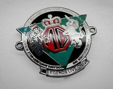 MG Badge Plakette Emblem Legends life on Midget TD TF MGA MGB RV8 Mini