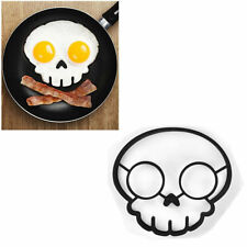 Hot! Silicone Funny Side Up Skull Egg Fried Frying Mould Pancake Mold Ring