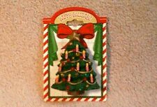 NWT Old Fashioned Christmas Tree Brooch Happy Holidays Jewelry