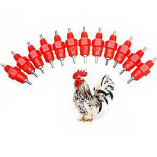 1pcs 360°C Chicken Duck Hen Screw In Poultry Water Nipple Drinker Feeder Free