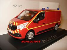 NEW NOREV RENAULT TRAFIC 3  FOURGON SAPEURS POMPIERS 2014 au 1/43°