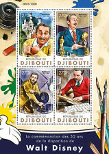 Djibouti 2016 MNH Walt Disney 50th Memorial 4v M/S Cartoons Films Oscars Stamps