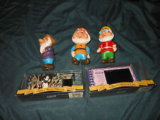 Disney lot snow white dwarves Cinderella 35mm film cel vinyl squeak toys vintage